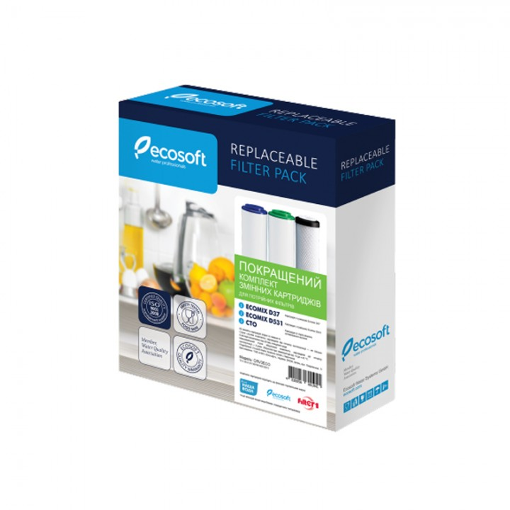 Улучшенный комплект картриджей для тройных фильтров Ecosoft